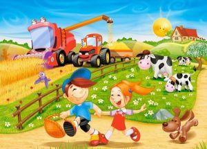Puzzle Castorland 60 dílků - život na vesnici 06878