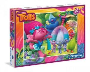 Puzzle Clementoni 100 dílků  - Trollové - 07250