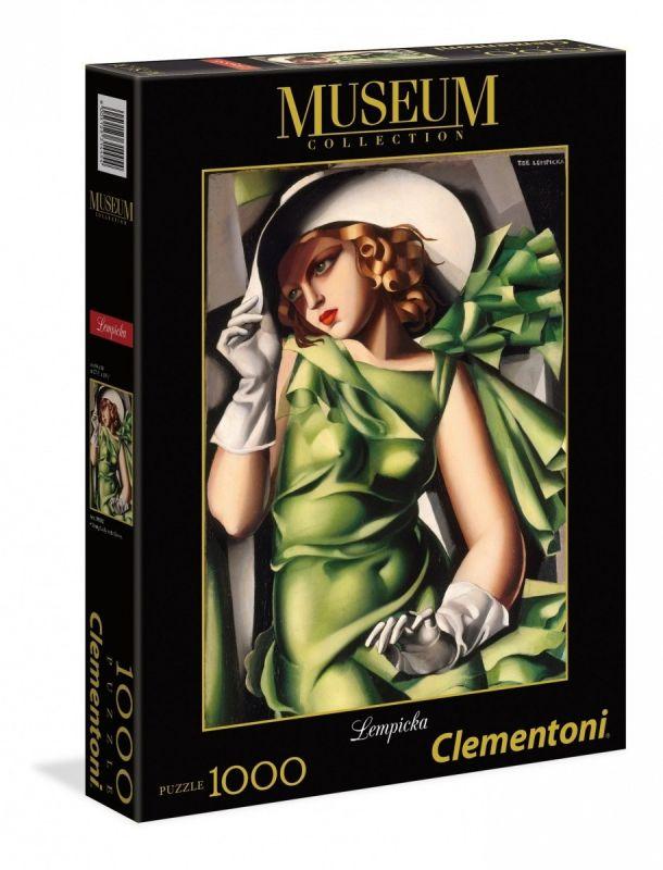 Puzzle Clementoni 1000 dílků - Tamara de Lempicka - portrét mladé dívky 39332