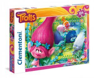 Puzzle Clementoni 104 dílků  -  Trollové   27961