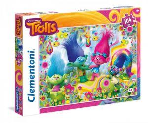 Puzzle Clementoni 104 dílků  -  Trollové   27967