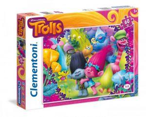 Puzzle Clementoni 60 dílků  - Trollové  26958