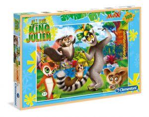 Puzzle Clementoni  MAXI  - 100 dílků  -  Král Julián   07523