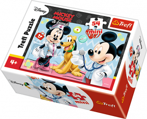 Puzzle mini 54 dílků - Trefl - Mickey Mouse 19552