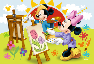 Puzzle mini 54 d - Trefl - Mickey Mouse 19554