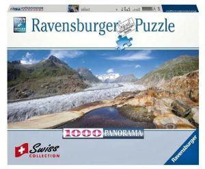Puzzle Ravensburger 1000 dílků panorama - ledovec Aletsch  Švýcarsko  191024