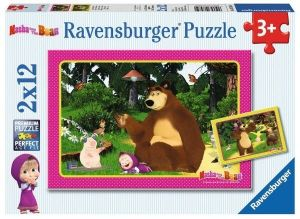 Puzzle Ravensburger  2x12 dílků  Máša a medvěd 075850