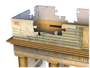 Ravensburger 3D puzzle Braniborská brána Berlín 324 dílků