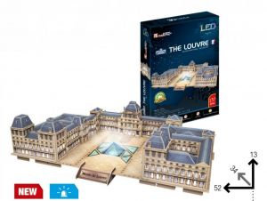3 D Puzzle CubicFun - Louvre muzeum, Paříž  137 d. LED  - svítící  20517