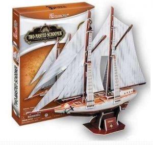 3D puzzle CubicFun  Dvoustěžňová plachetnice  81 dílků