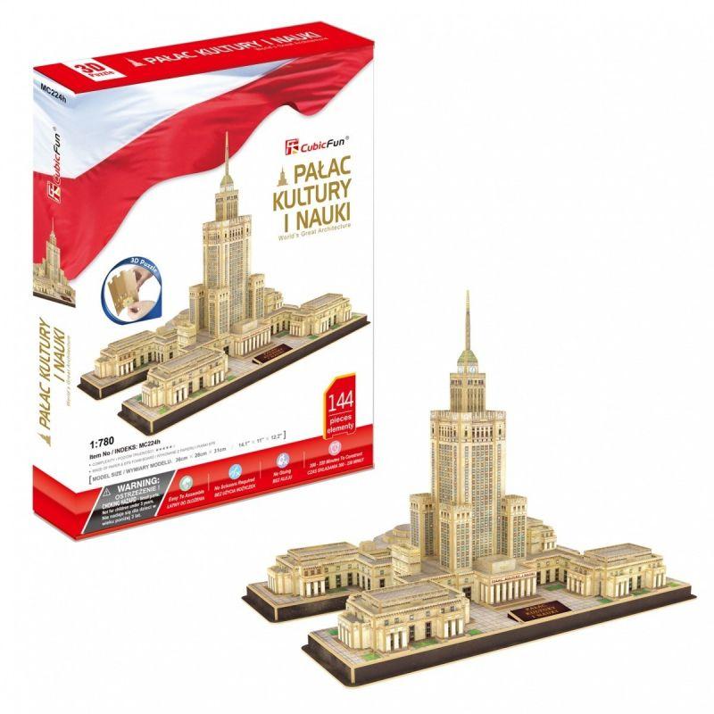 3D Puzzle CubicFun - Palác kultury a vědy - Varšava 144 dílků Cubic Fun