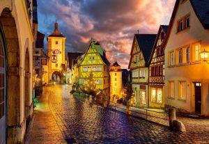 Puzzle Castorland 1000 dílků - Noční Rothenburg 103461