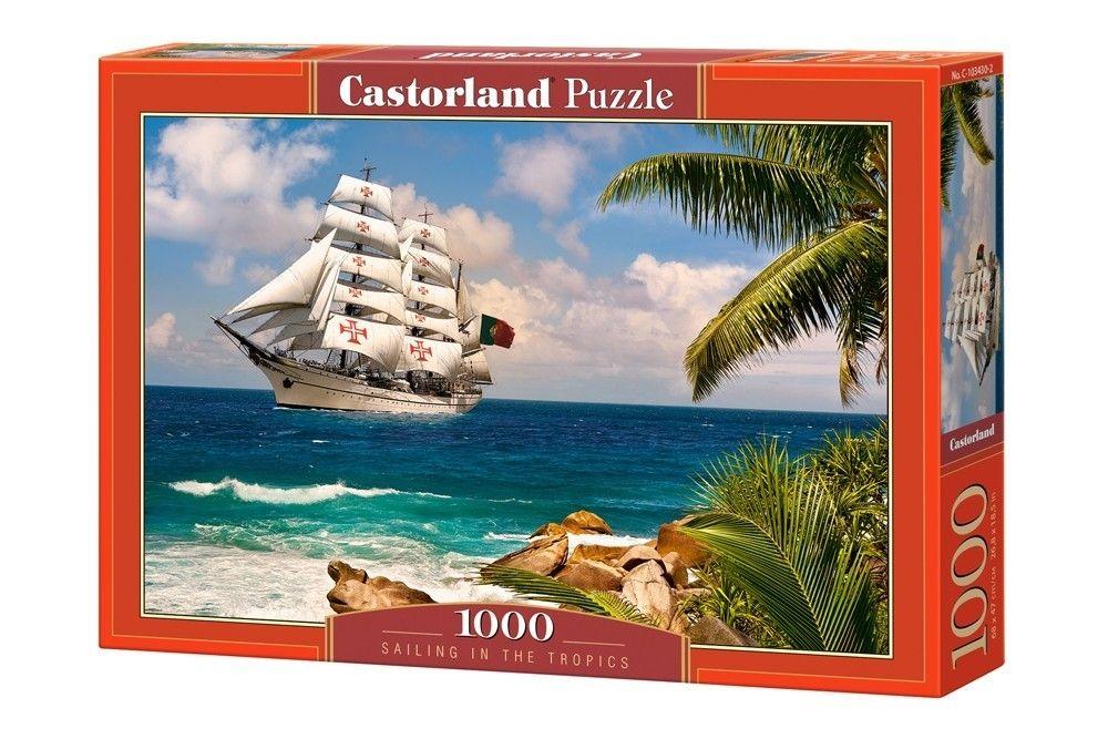 Puzzle Castorland 1000 dílků - Plachtění v tropech 103430