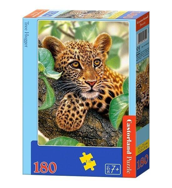 Puzzle Castorland 180 dílků - Leopard na stromě 018291