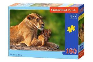 Puzzle Castorland 180 dílků - Lvice s mládětem  018246