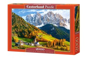 Puzzle Castorland 2000 dílků  Kostel svaté Magdaleny Dolomity 200610