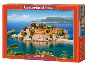 Puzzle Castorland 2000 dílků  Sveti Stefan Černá hora 200580