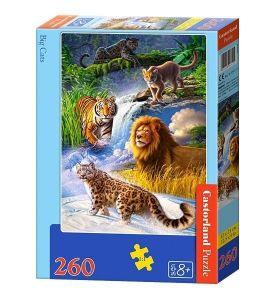 Puzzle Castorland 260 dílků - Velké kočky 27415