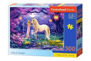Puzzle Castorland 300 dílků - Jednorožec v zahradě  030224