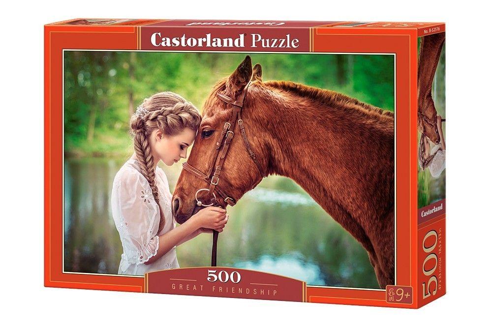 Puzzle Castorland 500 dílků - Dívka s koněm 52516