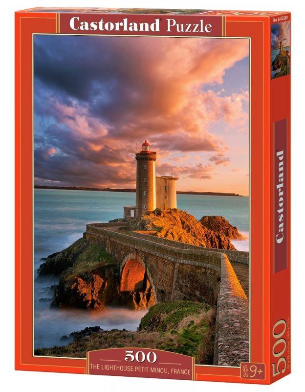 Puzzle Castorland 500 dílků - Maják Petit Minou Francie 52530