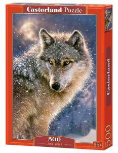 Puzzle Castorland 500 dílků - Osamělý vlk  52431