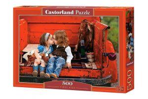 Puzzle Castorland 500 dílků - První pusa 52523