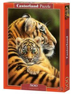 Puzzle Castorland 500 dílků - Tygři 52448