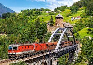 Puzzle Castorland 500 dílků - Vlak na mostě 52462