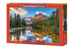 Puzzle Castorland 500 dílků - Východ slunce v horách 52455