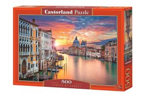 Puzzle Castorland 500 dílků - Západ slunce  v Benátkách  52479