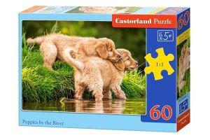 Puzzle Castorland 60 dílků - Štěňátka nad řekou 06946