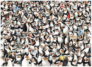 Puzzle Clementoni 1000 dílků - Nekoneční Tučňáci z Madagaskaru 39362