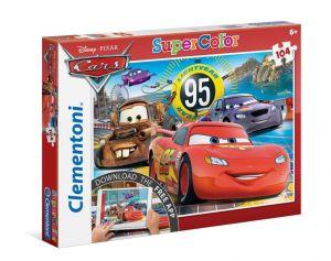 Puzzle Clementoni - 104 dílkú  s aplikací -  Cars  20707