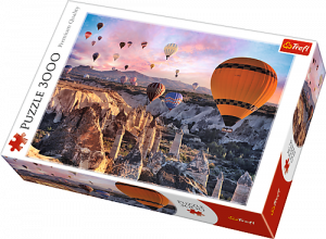 Puzzle TREFL 3000 dílků - Balóny nad Kappadokií Turecko 33059