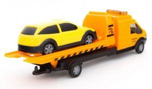 TEAMA - auto odtahovka s plošinou  3.ass  1:48  - oranžová barva