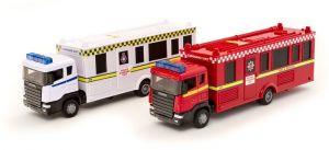 TEAMA - hasičské auto - velitelský vůz 2ass 1:48 - červený