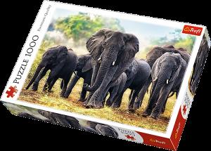 TREFL Puzzle 1000 dílků  Afričtí sloni  10442