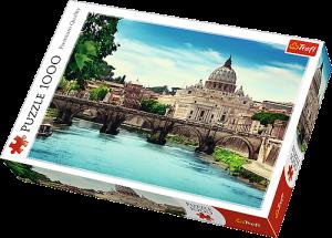 TREFL Puzzle 1000 dílků  Andělský most  Řím  10449