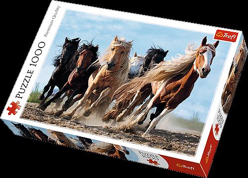 TREFL Puzzle 1000 dílků Cválající koně 10446