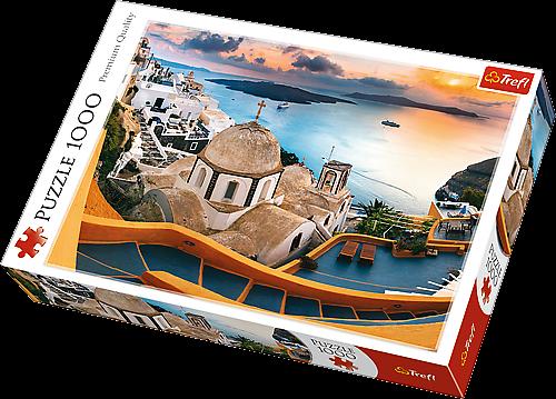 TREFL Puzzle 1000 dílků Santorini 10445