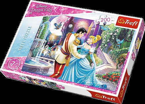 TREFL Puzzle 200 dílků - Popelka Půlnoční tanec 13224