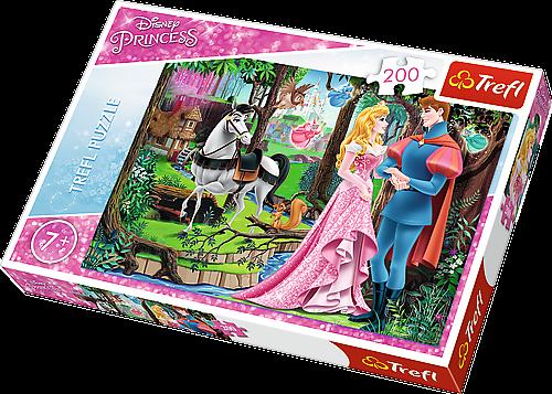 TREFL Puzzle 200 dílků - Šípková Růženka - Setkání v lese 13223