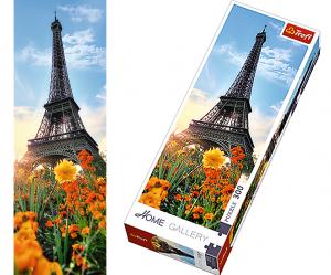 TREFL puzzle 300 dílků - Eiffelova věž uprostřed květů -  75000