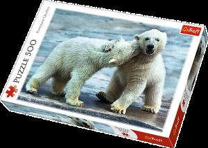 TREFL Puzzle  500 dílků -  Polární medvědi   37270