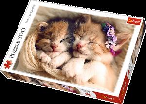 TREFL Puzzle  500 dílků -  Spící koťata   37271