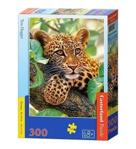 Puzzle Castorland 300 dílků - Leopadr na stromě   030170