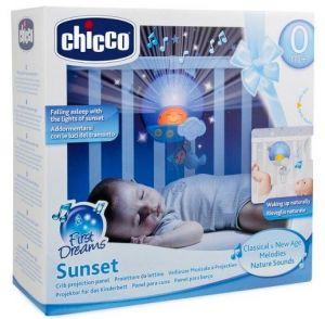 Chicco Projektor do postýlky s melodií - Sluníčko - modré