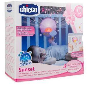 Chicco Projektor do postýlky s melodií - Sluníčko - růžové
