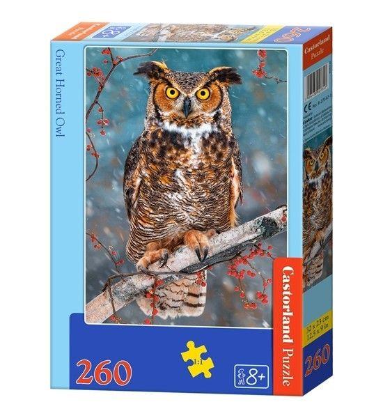 Puzzle Castorland 260 dílků - Sova 27347